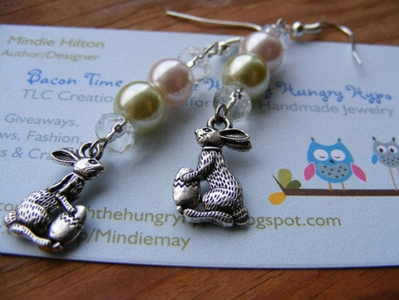 Earrings Easter Bunny and Beads