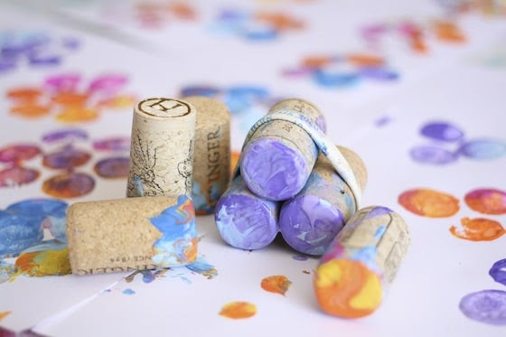 corks for stamping flowers