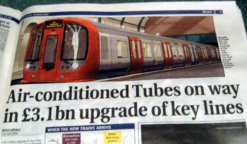 Air Conditioned Tubes - Evening Standard