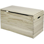 Little Colorado Wooden Toddler Toy Chest Storage Box with Open Hinge, Unfinished at Spreetail (VMinnovations | VM Express)