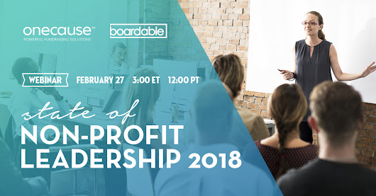 Webinar: State of Non-Profit Leadership 2018