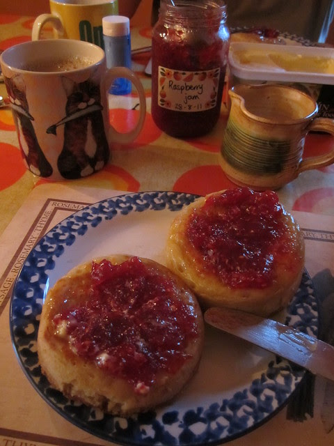crumpets and jam! 001