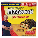 Chef Robert Irvine's Fit Crunch Chocolate Peanut Butter Whey Protein Bars, 18-count