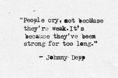 Love Quote Life Sad Quotes Perfect Johnny Depp Amazing Strong Cry Hard Rmnlx
