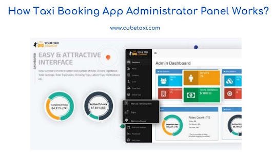 Taxi booking app administrator panel