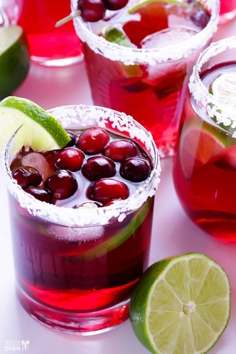 Summer may be known as berry season, but this sweet cranberry cocktail makes pure berry bliss achievable on chilly autumn nights, too.  Get the recipe at Gimme Some Oven.
