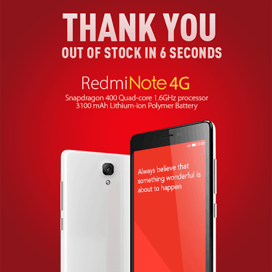 It Took Xiaomi 6 Seconds To Sell 40,000 Redmi Note 4G Units In India | Androidheadlines.com