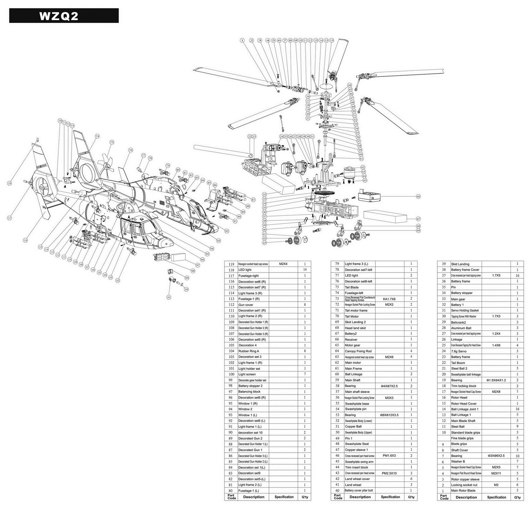 Wiring Diagram: 35 Parts Of A Helicopter Diagram