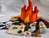 Children's Felt Pirate Campfire (Custom Order)