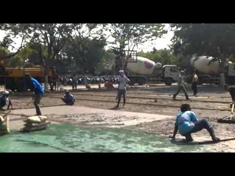 VIDEO PENGECORAN READYMIX CONCRETE DAN FLOOR HARDENER