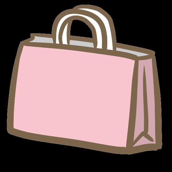 お土産ピンクの紙袋のイラスト かわいいフリー素材が無料の