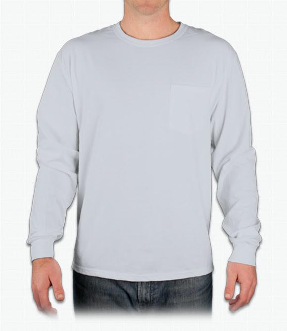 Custom Hanes Tagless Long Sleeve T Shirt W Pocket Design Online