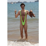 Borat Suspender Mankini Thong - Gold - One Size Fits All