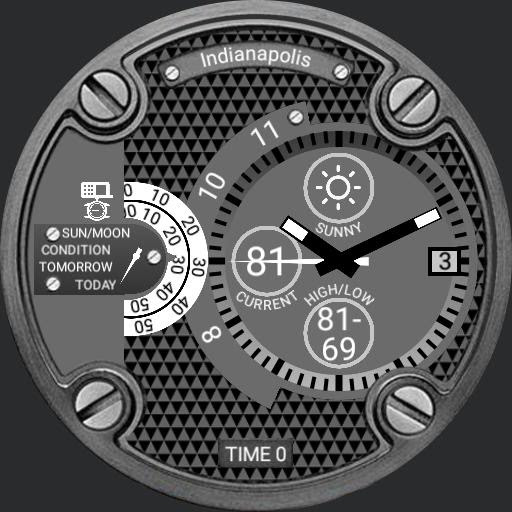 Grey-oversized case - watch face for Apple Watch, Samsung Gear S3, Huawei Watch, and more - WatchMaker