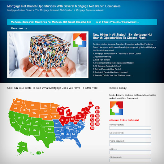 JavaScript WordPress map for displaying mortgage brokers network