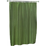 Carnation Home Fashions Lauren Dobby Fabric Shower Curtain in Sage