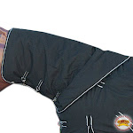 Large Winter Waterproof Poly Turnout Horse Hood Neck Cover White Black