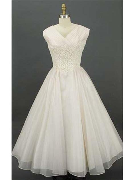 Authentic 1950s Tea Length Dress 50s Lace Silk Wedding