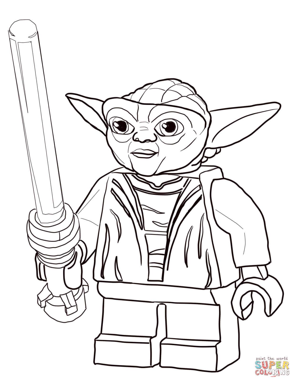 Dibujo De Maestro Yoda De Star Wars Lego Para Colorear Dibujos