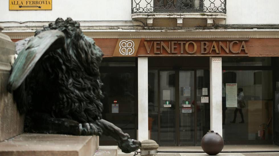 Sucursal del Veneto Banca en Venecia.