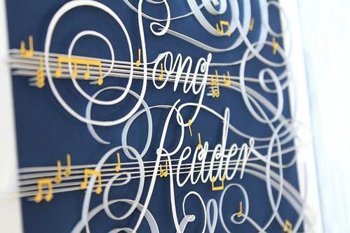 song-reader-paper-art