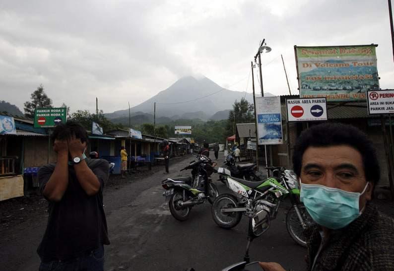 Desalojados por el volcán Merapi