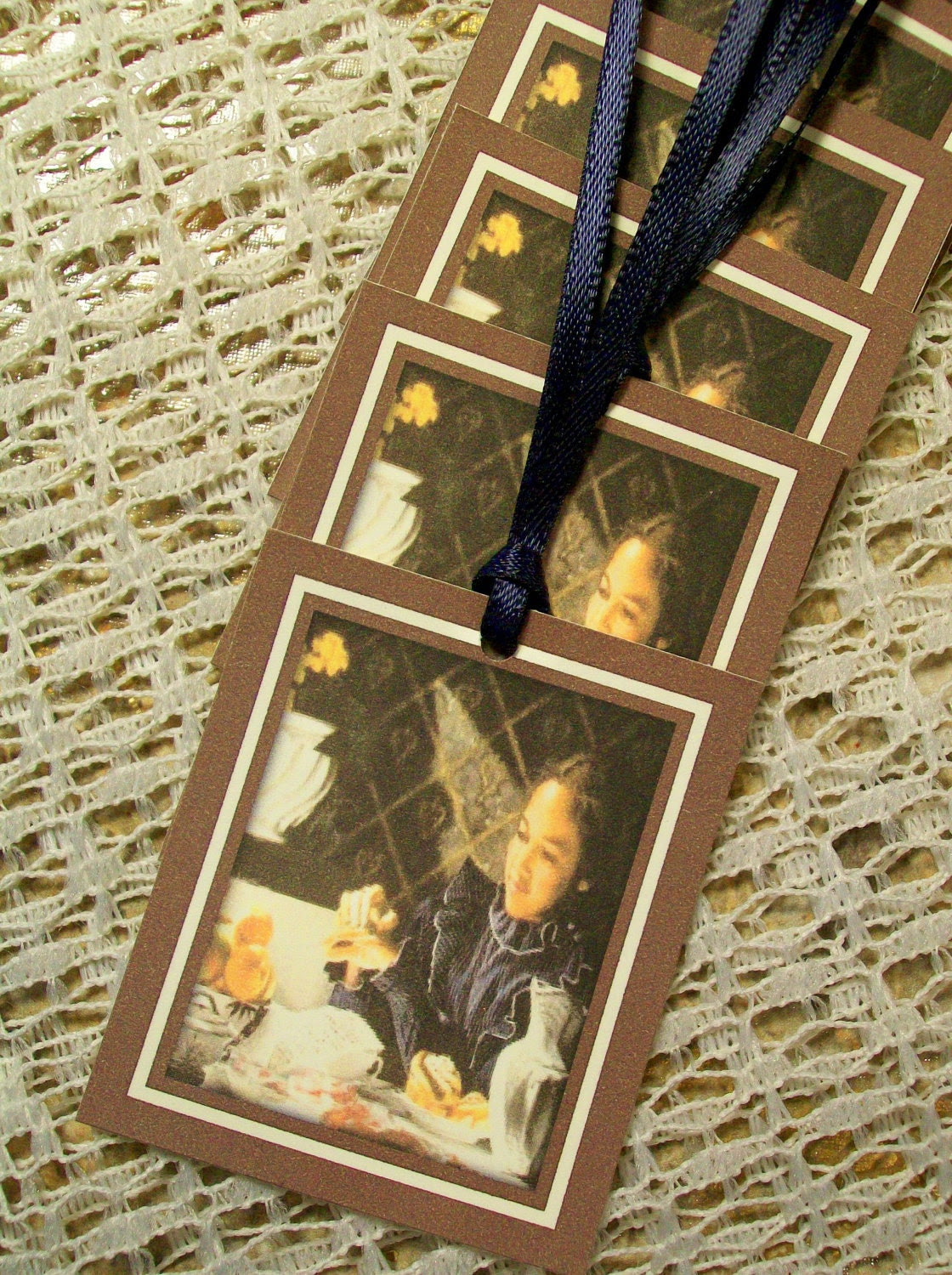Gift Tags African American Girl Mini Bookmark Set of 6
