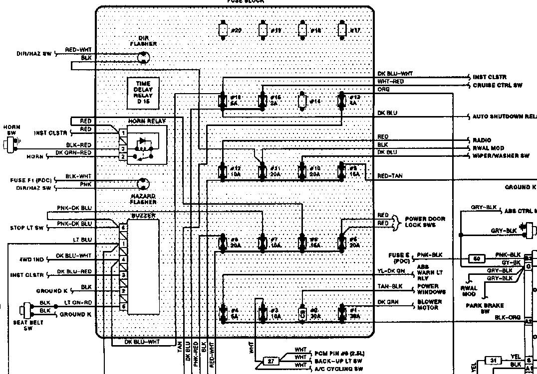 31 1993 Dodge Dakota Fuse Box Diagram - Wiring Diagram Ideas
