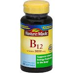 Nature Made Vitamin B12, 3000 mcg, Softgels - 60 softgels