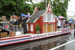 church float in Bristol 4th of July parade