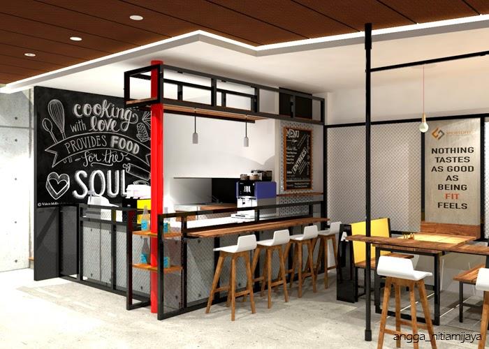 44 Desain Dapur Mini Cafe Paling Tren