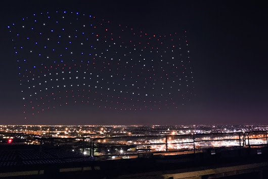 Here's how those Super Bowl half-time show drones worked.