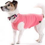 Gold Paw Stretch Fleece Dog Coat – Warm Dog Clothes, Stretchy Pet Sweater – Machine Washable. Sizes 2-30, Coral