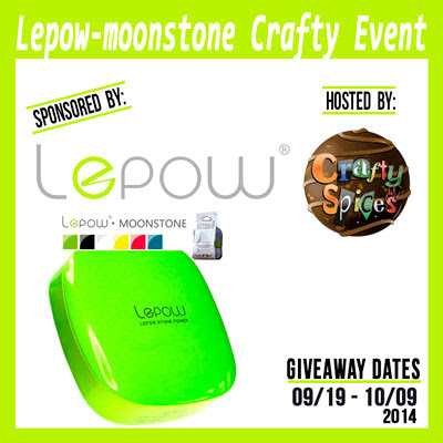 Lepow Moonstone Crafty Blogger Opp. Event starts 9/19