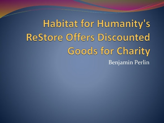 Habitat for Humanity's ReStore Offers Discounted Goods for Charity