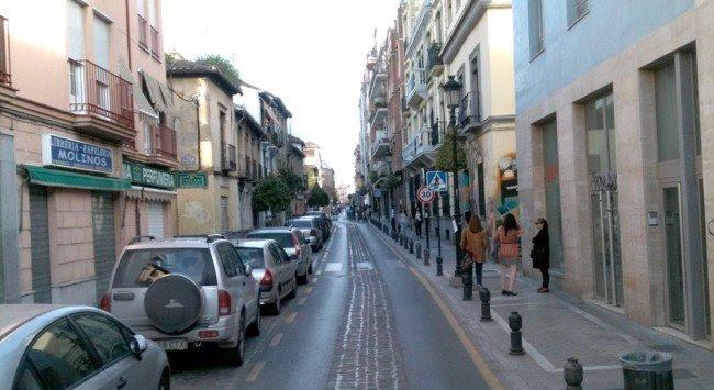 Calle Molinos, en el Realejo