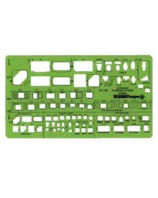 Alvin TD1190 - Plumbing Fixtures Template ES7155