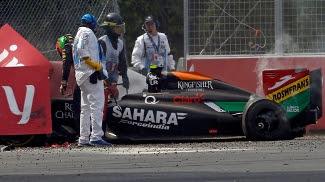 Sergio Pérez causou acidente com Felipe Massa na última volta do GP do Canadá