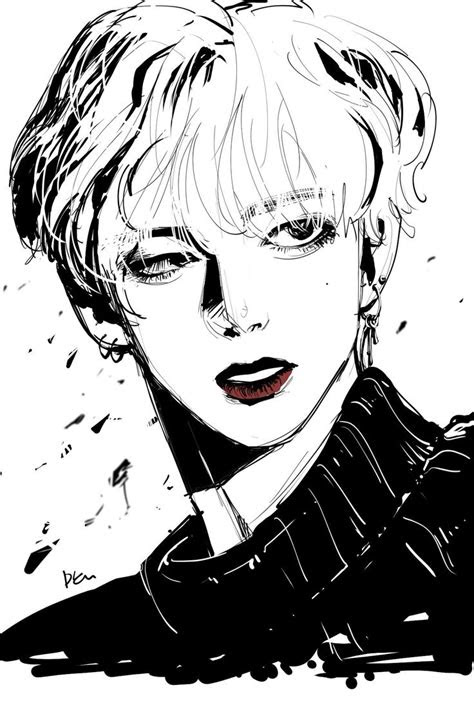 atbts art fanart kpop kdrama   bts drawings