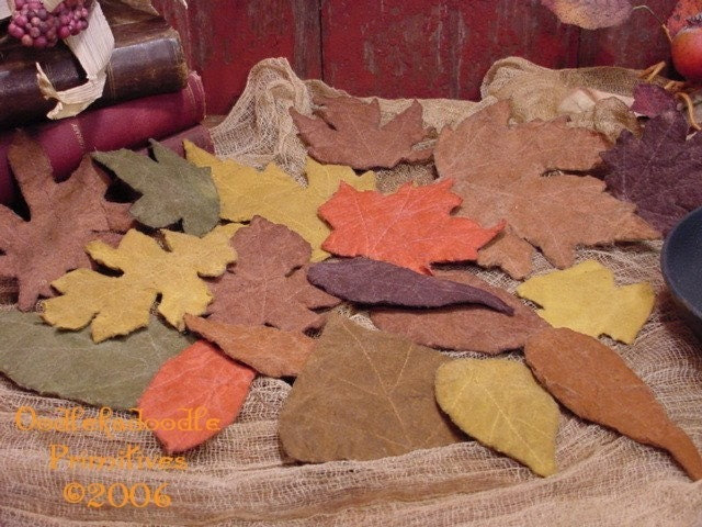 Autumn Leaves, Cupboard Tucks, Ornies, Bowl Filler E-Pattern ET