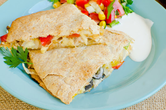 Caribbean Style Chicken Quesadillas with Cheese Recipe