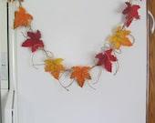 Rustic Woodland Kitchen Autumn Leaf Garland - theblueberrybee