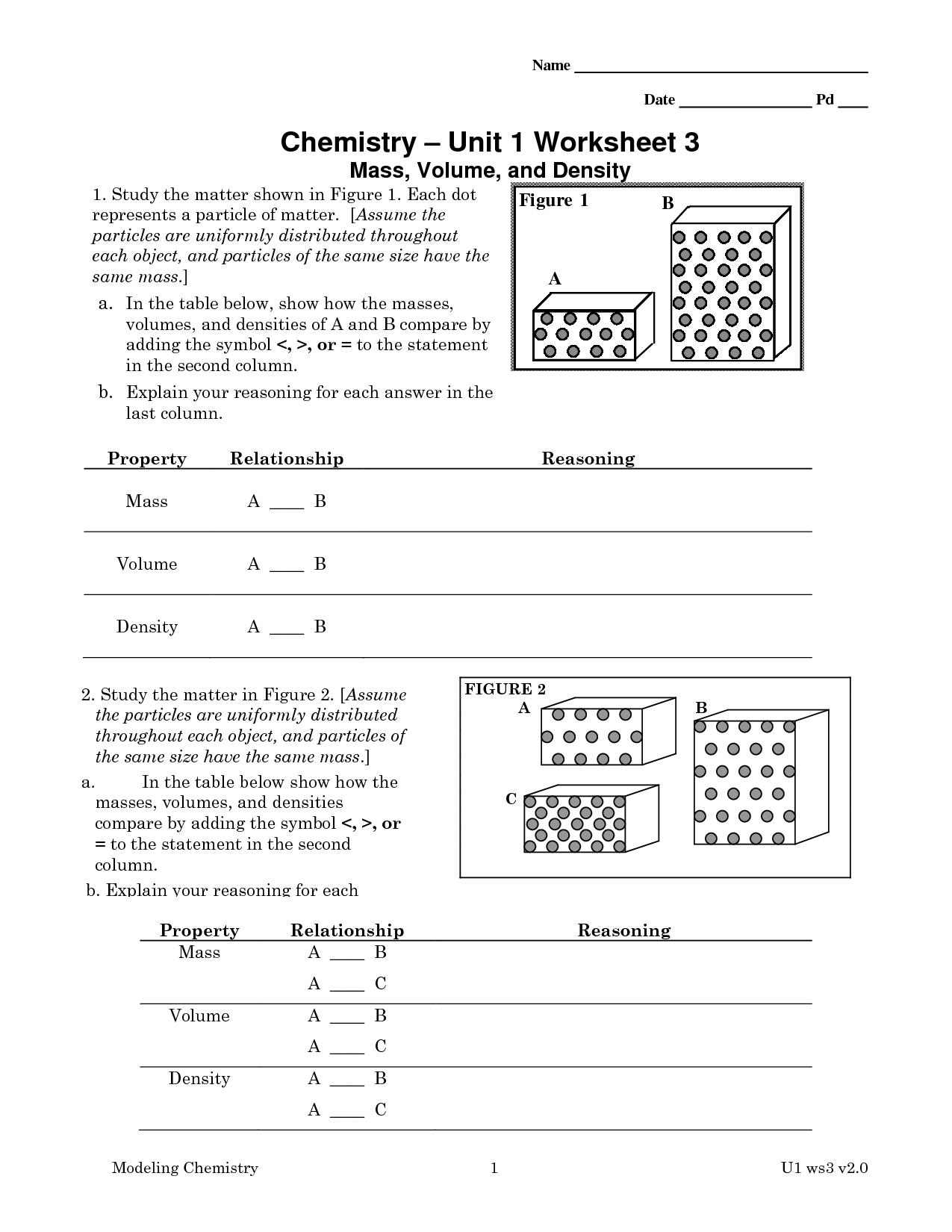31 Chemistry Unit 1 Worksheet 6 Answers - Worksheet ...