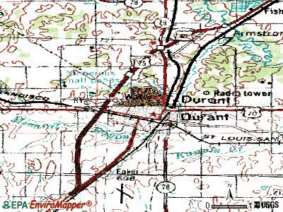 on durant wyoming map