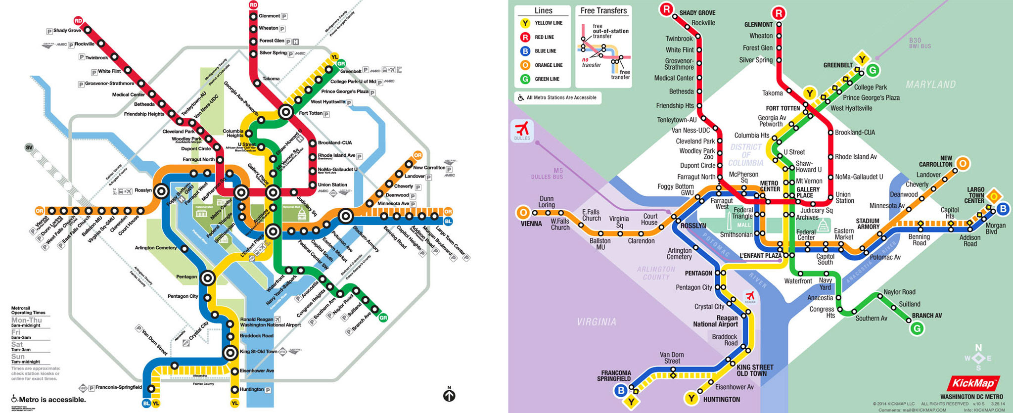 Washington Dcdc Subway Map.Official Dc Metro Map Time Zones Map
