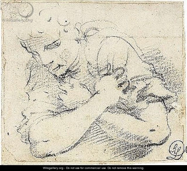 Study Of An Angel With Arms Crossed Annibale Carracci
