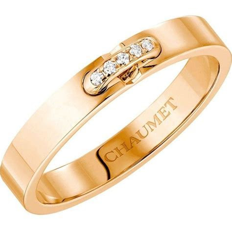 CHAUMET Liens XXS 18ct rose gold and diamond wedding band