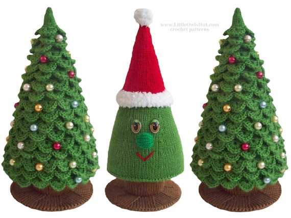 009 Christmas Tree New Year pattern - Amigurumi Crochet  and Knitting Pattern - by Zabelina Etsy
