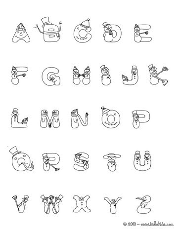alphabet coloring sheets: Letters Coloring Pagechristmas