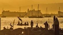 Puerto Vallarta sunset at dusk off Bahia de Banderas